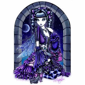 """""""Mia"""" Twilight Moon Fairy & Kitty Photo Sculpture"""