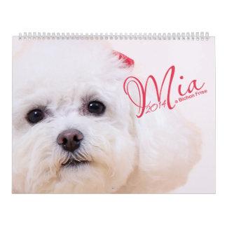 Mia - un calendario de Bichon Frise 2014