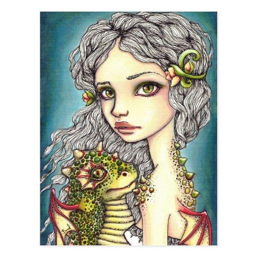 Mia y ónix tarjeta postal