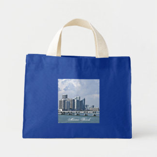 Miam Beach Skyline Mini Tote Bag