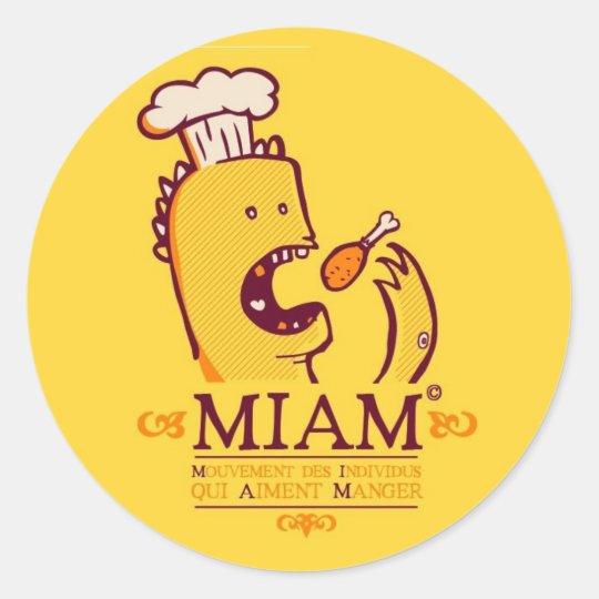 Miam Classic Round Sticker