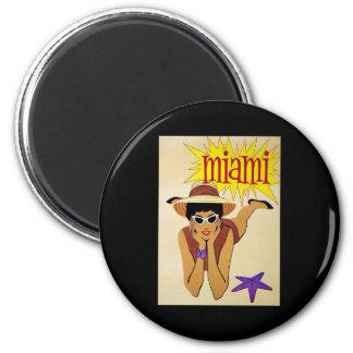 Miami 2 Inch Round Magnet