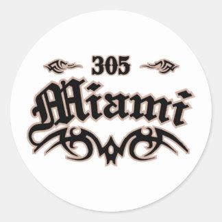 Miami 305 classic round sticker