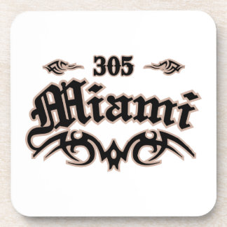Miami 305 beverage coasters