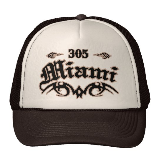 Miami 305 trucker hat