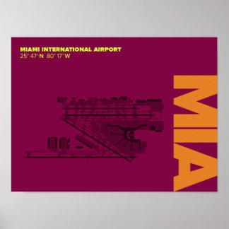 Miami Airport (MIA) Diagram Poster