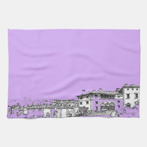 Miami architecture kitchen towels