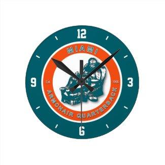 Miami Armchair Quarterback Football Wall Clock