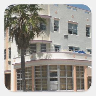 Miami Art Deco Square Sticker