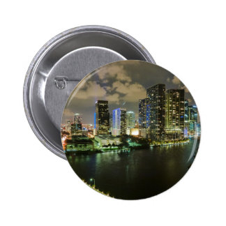 Miami at Night Pinback Buttons