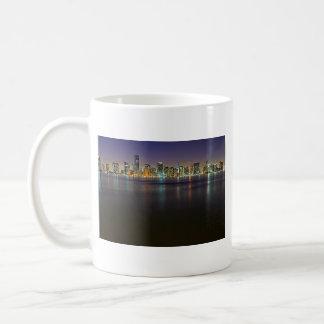 Miami At Night Coffee Mugs