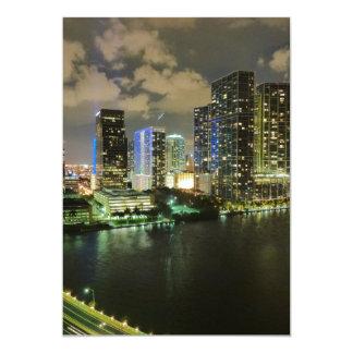 """Miami at Night 5"""" X 7"""" Invitation Card"""