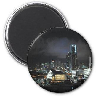 Miami at Night Refrigerator Magnets