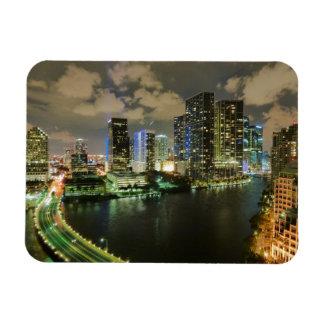 Miami at Night Vinyl Magnets