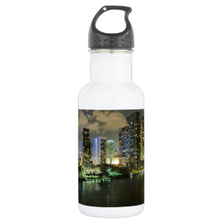 Miami at Night Water Bottle