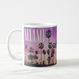 Miami at sunset coffee mug