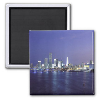 Miami at Twilight 2 Inch Square Magnet