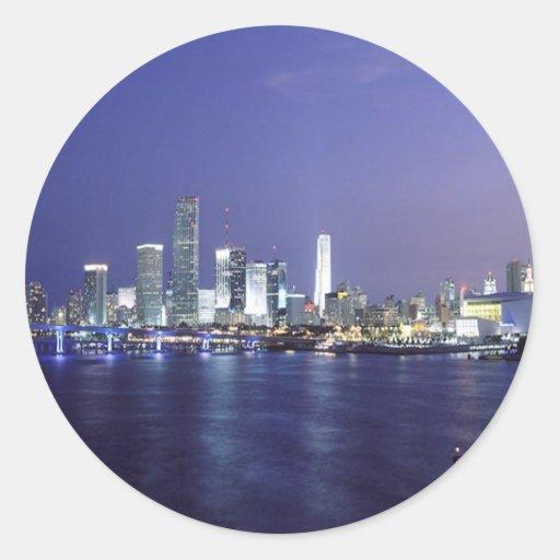 Miami at Twilight Classic Round Sticker