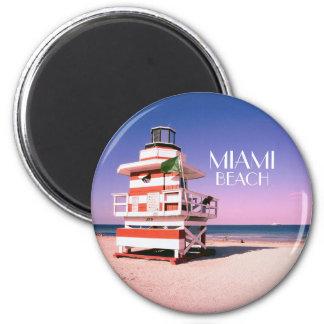 Miami Beach #01 2 Inch Round Magnet