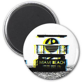 Miami Beach 2 Inch Round Magnet