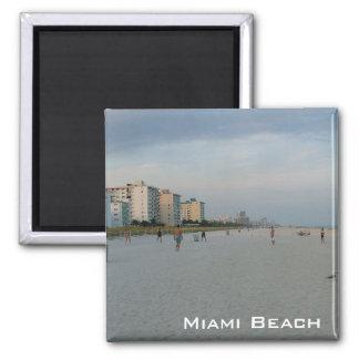 Miami Beach 2 Inch Square Magnet