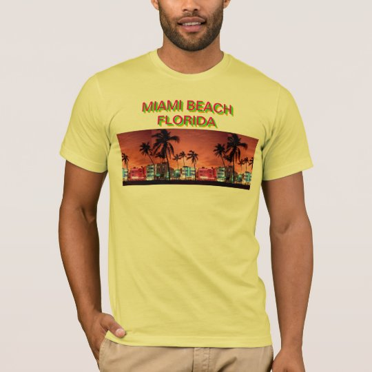 MIAMI BEACH AT NIGHT T-Shirt