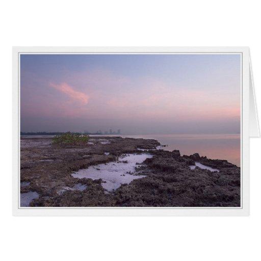 Miami Beach at sunrise Card