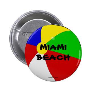 Miami Beach botón de la pelota de playa Pins