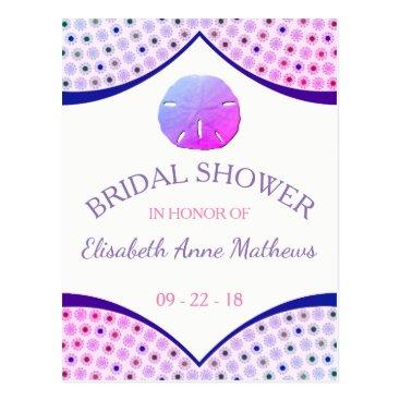 Beach Themed Miami Beach Bridal Shower Invitation Postcard