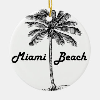 Miami Beach Ceramic Ornament