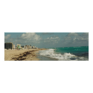 Miami Beach Coast Panorama Poster