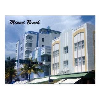 miami beach deco postcard