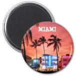 Miami Beach, Florida 2 Inch Round Magnet