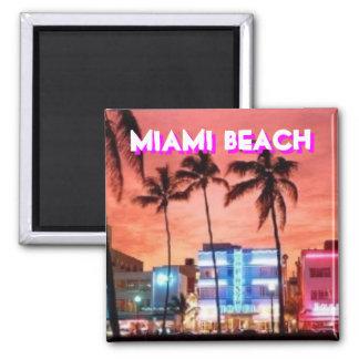 Miami Beach, Florida 2 Inch Square Magnet
