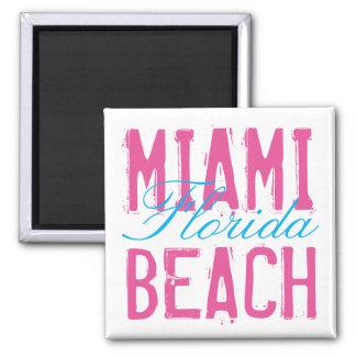 Miami Beach Florida 2 Inch Square Magnet
