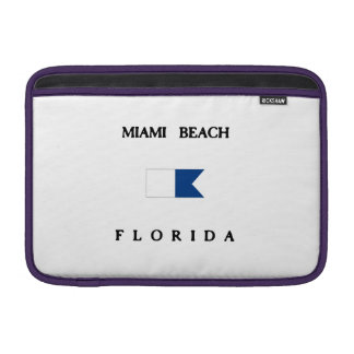 Miami Beach Florida Alpha Dive Flag MacBook Sleeve