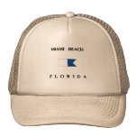 Miami Beach Florida Alpha Dive Flag Trucker Hat