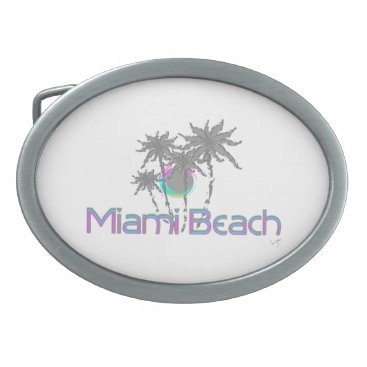 Beach Themed Miami Beach, Florida, Cool Belt Buckle