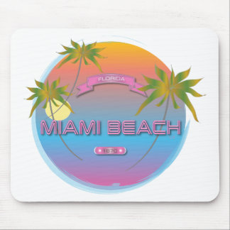 Miami Beach Florida, Est. 1870 Cool Mousepad