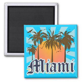 Miami Beach Florida FLA 2 Inch Square Magnet