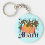 Miami Beach Florida FLA Basic Round Button Keychain