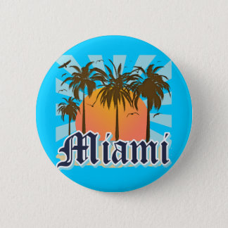 Miami Beach Florida FLA Button