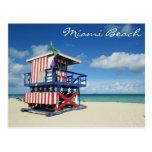 miami, beach, florida, tower, guard, sand, summer,