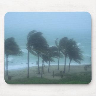 Miami Beach, Florida, hurricane winds lashing Mouse Pad