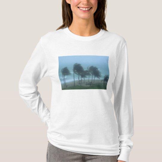 Miami Beach, Florida, hurricane winds lashing T-Shirt