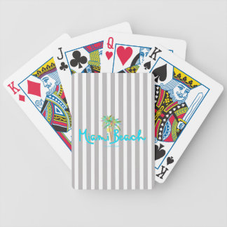 Miami Beach, Florida I Love You Bicycle Playing Cards