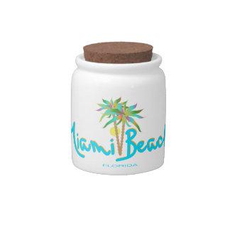 Miami Beach, Florida I Love You Candy Dish