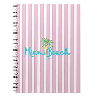 Miami Beach, Florida I Love You Spiral Notebook