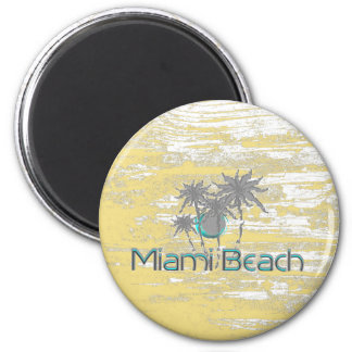 Miami-Beach, Florida,Palms, Grunge Cool Magnet