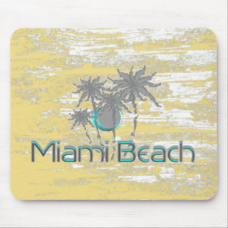 Miami-Beach, Florida,Palms, Grunge Cool Mouse Pad